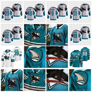 Womens 12 Patrick Marleau San Jose Sharks 2021 헤리티지 저지 Logan Couture Evander Kane Brent Burns Martin Jones