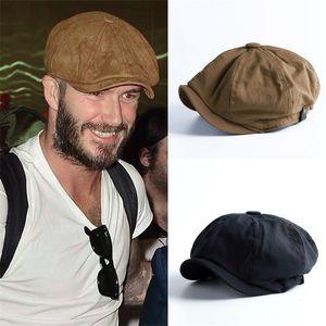 Men NewsBoy Cap Hearringbone Baker Boa Boa Boy Cabbie Flat Hat Retro Newsboy Cap Nyz Shop 201216