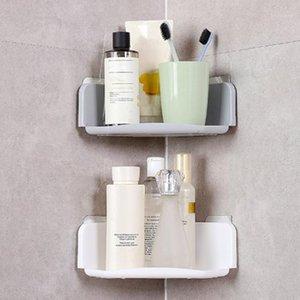 Wall-mounted Plastic Bathroom Lotion Shampoo Shelf Soap Toothbrush Holder Storage Rack Shower Organizer1