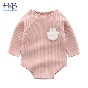 Humor Bear Newborn Cute Baby Girls Clothes Spring Autumn Cotton Long Sleeve Jumpsuit Outfits Newborn Infant Clothes J1203