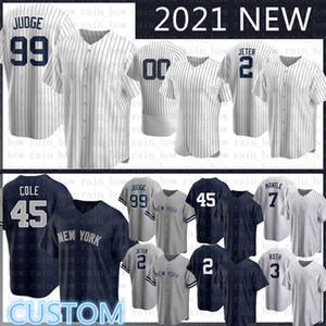 Özel 2020 Yeni Aaron 99 Hakim Beyzbol Forması Derek 2 Jeter Gerrit 45 Cole Gleyber 25 Torres DJ 26 Lemahieu Don 23 Mattingly Gary Sanchez
