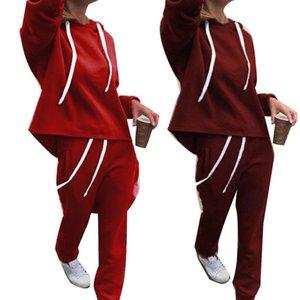 2019 Yeni Rahat Eşofman Iki Parçalı Set Hoodies Sıkı Spor Kadınlar Için 2 Parça Koşu Spor Suits Suits Suits