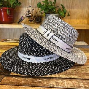 Летние женщины широкие Breim Beach Hats мода дышащая шляпа открытый путешествия солнцезащитная шляпа тканая соломенная шляпа