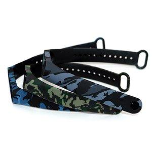 SPORT EDITION STRUP ECO Friendly Silicon Camuflaje Reemplazo de la banda de la muñeca Pulsera para M4 Smart Bracele Fitness Equipment BBYLMW