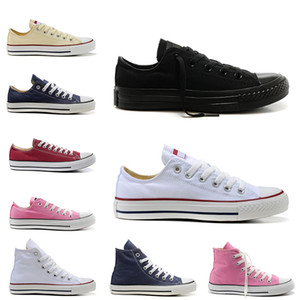 classic canvas shoes men women platform casual shoes triple white black red pink navy blue high quality mens trainer