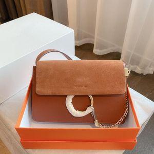 Alle Farben arbeiten Frauen Schultertasche Dame klassische Ring-Kette Crossbody Kleine Taschen Top-Qualität Mädchen-Handtaschen Zarte Geschenk mit Box