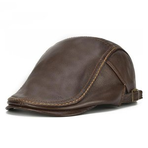 2020 Autumn Winter Men Real Genuine Leather Baseball Cap Brand Casual Warm Cow Leather Hat Real Cowhide Baseball Caps
