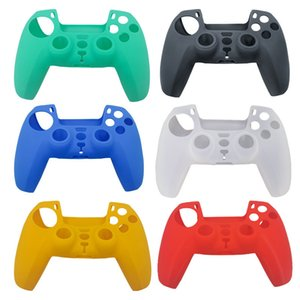 6 Colors Soft Protective Cover Silicone Case Skin for Playstation 5 PS5 Controller Gamepad Protector Anti-Slip Cap Ps5 Joystick Cover DHL