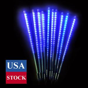 Luzes de sincelo queda de neve meteor chuveiro chuveiro luz de chuva diodo emissor de luz diodo emissor de luz de decoração de queda de queda luz de string 10 tubo (azul, 50cm)