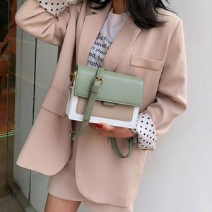 PU Leather Crossbody Bags For Women 2020 Travel Handbag Fashion Simple Shoulder Messenger Bag Ladies Cross Body Handbags Green