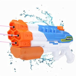 1200CC Soaker 4 Nozzles Blaster Squirt Gun 30ft Pistol Water Fight Summer Outdoor Swimming Pool Beach Toys 200928