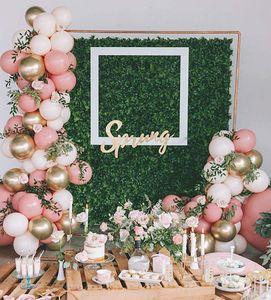 Blush Pink Gold Balloon Garland for Girls Garden Party Birthday Wedding Balloon Baby Shower Bachelorette Party Decorations