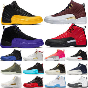 Special Offer Reverse Flu Game Dark Concor 12 12s Basketball Shoes Reverse Taxi Hot Punch Fiba Bulls Gym Red Mens Trainers Sports Sne