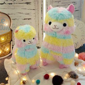 Rainbow Alpaca Vicugna Kawaii овец чучела японские чучела животных детей детский подарок плюшевая кукла игрушка 201212