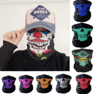 US Halloween Party Schädel Magie Schal Masken Bandana Neck Gaiter Stirnband Turban Outdoor Sports Reitmasken Skifahren Maske CYZ2949