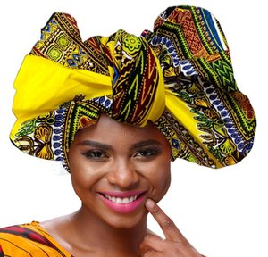 african for Women's hair accessories Wrapped Head Turban Ladies Scarf Hat Headwrap Long Tail Cap Q1202