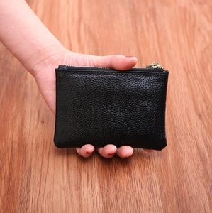 Mini Wallet Pocket Wallets Women Leather Solid Color Simply Coin Key Wallet Leather Card Coin Storage Purse Durable Unisex Wallet PPD3191