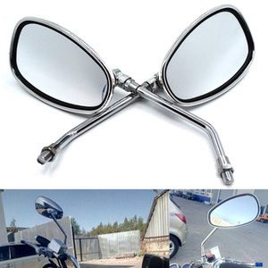 sliver chrome motorbike side mirrors for yamaha vespa scooter accessorie side mirror motorcycle rearview mirror moto