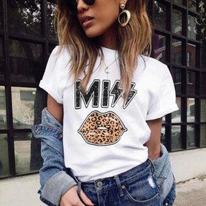 T-shirt short Donne Leopard Size Tigre Tigre Womens Kiss Sleeve Allent Tops Plus Stampato Rock Miss Abbigliamento HARAJUKU RXRXCOCO TEES DATXG