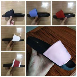 2020 Sandalias de hombre / mujer con deslizadores Zapatillas con caja fina Zapatos de alta calidad Slide Summer Fashion Wide Sandals Sandalias Slipper 01J06
