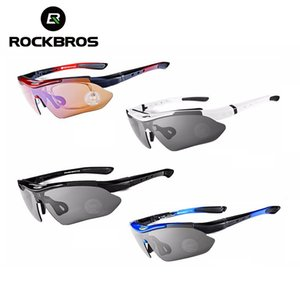 Rockbros Polarized Sun Sports Man Cycling Mountain Bike Bicycle Glasses Guida protettiva Goggles Eyewear UV400