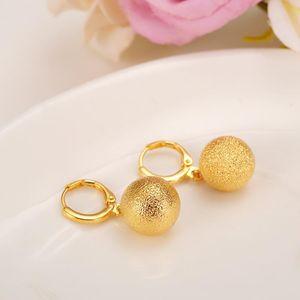 lovely ball Earrings 24K Gold drop Earings For Women Girls african Jewelry Wedding Party Cool Fashion beads earrings kid gift