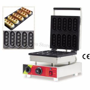 Machine de boulanger en forme de barre d'acier inoxydable en acier inoxydable en acier inoxydable en acier inoxydable fabricant de gaufres 10pcs moules 220v 110v 1500w