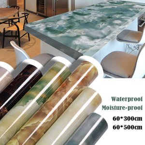 Self adhesive Marble Vinyl Wallpaper Roll Furniture Decorative Film Waterproof Wall Stickers for Kitchen Backsplash Home Decor 201207