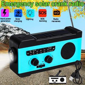 Multifunctional Hand Radio Solar Crank Dynamo Powered AM FM NOAA Weather Radio Use Emergency LED 2000mAh Power Bank