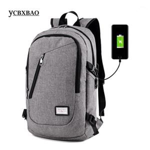 망 블루 배낭 preppy 스타일 큰 용량 USB 충전 백팩 Satchel 여성 패션 학교 가방 배낭; Sac A dos femmes1