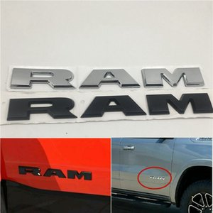 For Dodge Ram 1500 2500 3500 Front Door Emblem Logo Badge Fender Nameplate Car Sticker