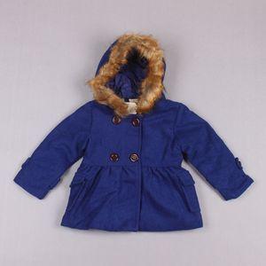 Clearance sale Winter girls overcoat woolen kids overcoat hooded girls coats long kids coats girls outerwear kids outerwear Z189