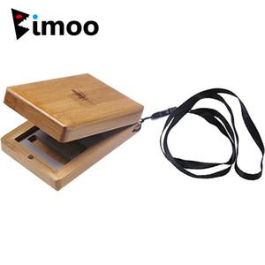 Bimoo 2pc tasca tascabile Bambù in legno Pesca Fly Box Fly Pesca Scatola di immagazzinaggio Doppia coperchio Bamboo Casi di contenitore di stoccaggio di bambù 98 * 70 * 30mm B1207