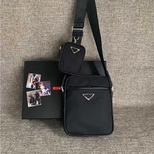 أزياء الفاخرة مصمم رجل حقيبة جلدية شعار واحد الكتف حقيبة قطري سستة المواد النايلون رجل في الهواء الطلق حقيبة عالية الجودة