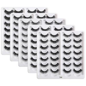MAGEFY 14 4pairs Natural 3D False Eyelashes Fake Lashes Makeup Kit Mink Lashes Extension Fluffy Soft Mink Eyelashes Maquiagem