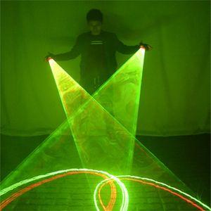 SJ84 Ballsaal Tanzlaser Swirlhandschuhe Party Bühnen Show trägt LED Kostüm Dance Show DJ Performance Laser Beleuchtete Disco Green DS 201216