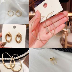 AOV YFJEWE Yeni Sıcak Shamballa Küpe Sier Satış Küpe Hoop Küpe Kadınlar Altın Şerit Rhinestone Kristal Moda Takı Küpe