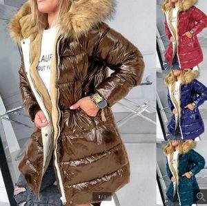 2020 Thick Warm Down Jacket Women Winter Coat Plus Size Women's Clothes Hood Fur Collar Black Coats Padded Jackets Outwear