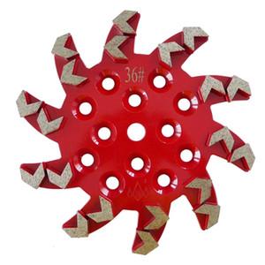 Taza 1 pieza 10 pulgadas de rueda D250mm Sharp con 20 segmentos de flecha Placas de pulido de diamantes para el piso de concreto y terrazo