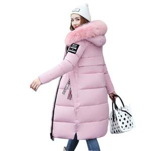 Needbo jaqueta de inverno mulheres coleiras de pele longo parka casual mulher magro inverno casaco beber jaqueta acolchoado outwear casaco mulheres aquecer 201125