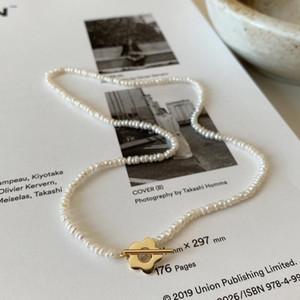 Doğal Tatlısu Inci Çiçek Gerdanlık Kolye 925 Ayar Gümüş O T Düğme Kolye Kadınlar Için Lüks Parti Takı