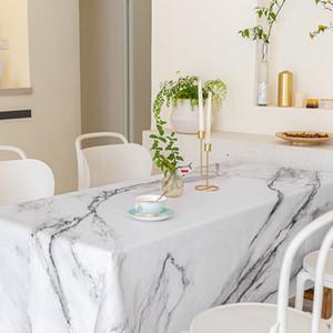 Nordic Ins Toblecloth Marble Impermeabile a prova di olio impermeabile Lavaggio Free Rettangolare Tele Tè Net Red Anti Scossa Tavolino