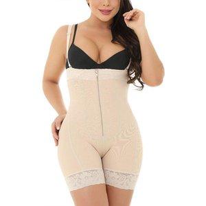 Womens Seamless Open Bust Shapewear Zipper Waist Bodysuit Lace Trim Body Shaper X3UE