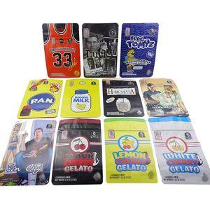 Backpackboyz Mylar Bolsas Zip-Lock Runcs Bags 3.5g Embalaje Embalaje Olor Olor COOKIES MYLAR Almacenamiento de alimentos Resellable Bolsas
