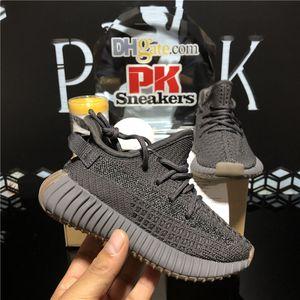 En Kaliteli Kanye West Statik Yansıtıcı Bebek Sneakers Çocuk Tasarımcılar Ayakkabı Kuyruk Işık Glow Keten Erkek ve Kız Açık Koşu Ayakkabıları