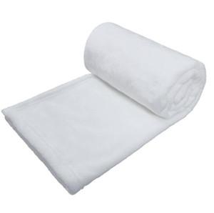 10pcs Sublimation DIY Blank White Flannel Home Blanket for Heat Transfer prints size 76*102CM