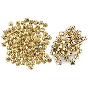 200pcs Metal Jingle Bells for Christmas Decoration Jewellery Making Craft Gold - 100Pcs 10mm & 100pcs 6mm