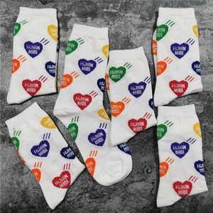 White 2021FWSS h-letter in stock Socks Women Men Unisex 100% Cotton Basketball Socks
