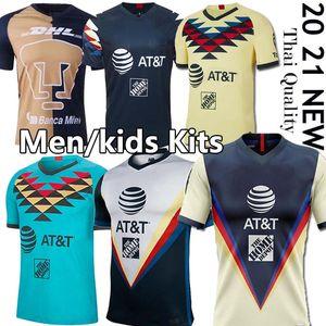 Thaïline 2021 Liga MX Club America Soccer Jerseys 20/21 America Team 10 C.Dominguez 24 O.Peralta p.Aguilaire chemise de football uniforme