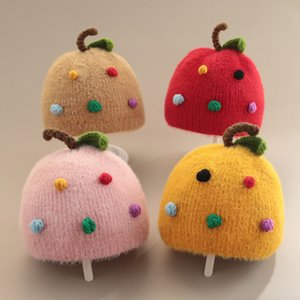 autumn and New born super cute wool hat winter boy girl baby